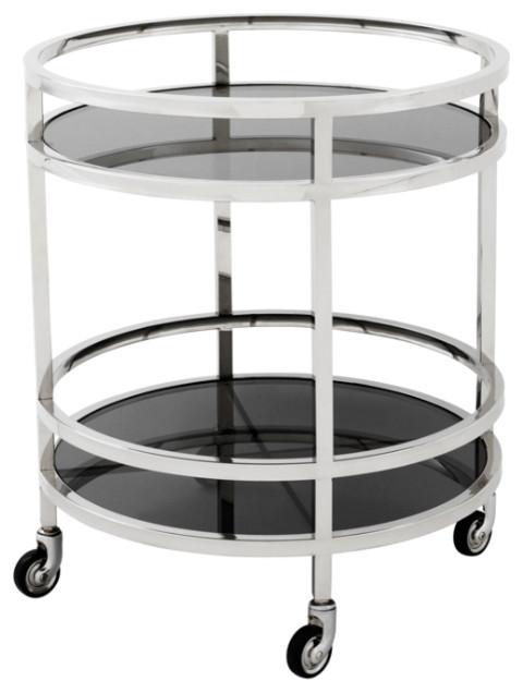Eichholtz Dakota Round Bar Cart