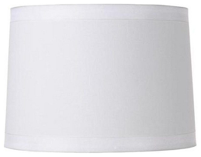 White Silk 16 Retro Drum Floor Or Table Lampshade Replacement