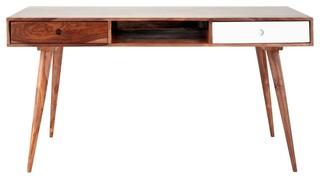 Scrivania Vintage Legno : Scrivania vintage in massello di legno di sheesham l cm