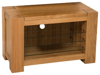 huge discount ca034 93717 Kuba Chunky Solid Oak TV Cabinet, Small - Modern - TV Stands ...