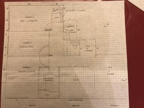 Cr ation suite parentale avec penderie et salle de douche for Ma salle de bain design