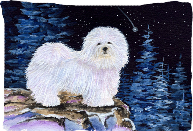 Starry Night Coton De Tulear Moisture Wicking Fabric Standard Pillowcase Traditional Pillowcases And Shams By The Store