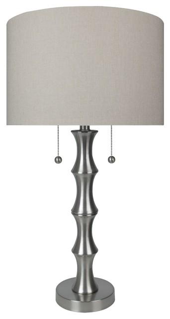 """28"""" Brushed Nickel Table Lamp Set"""
