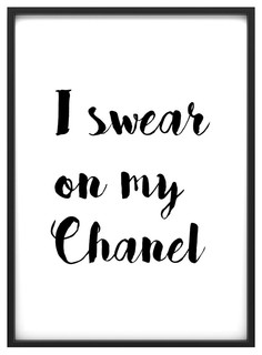 how to frame a mirror in bathroom quot i swear on my chanel quot poster print 50x70 cm 26092