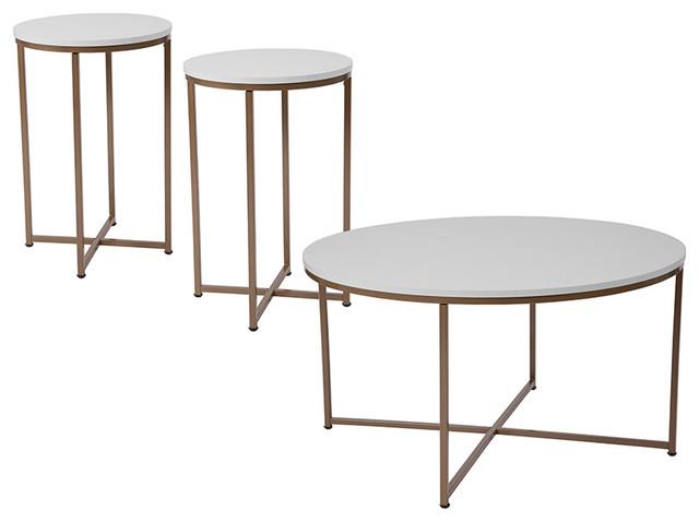 Flash Furniture Hampstead 3-Piece Occasional Table Set.