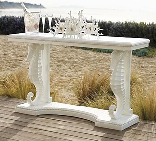 Seahorse Console Table Patio Furniture Traditional