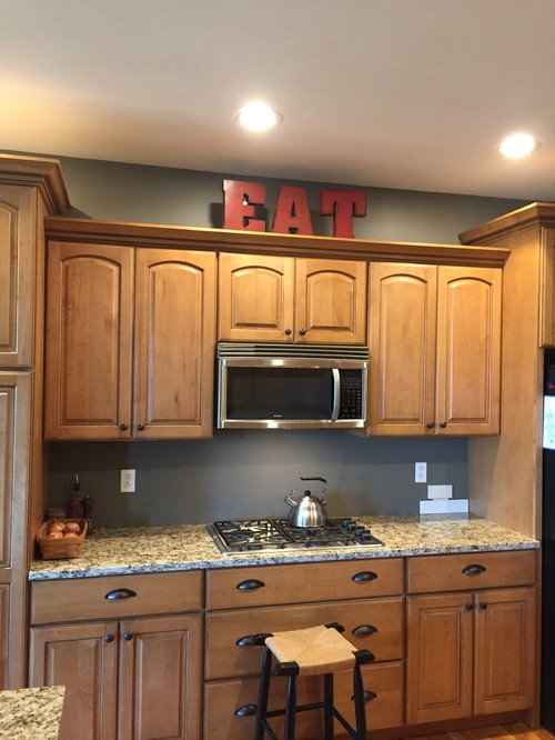 Please Help Me Choose Top Of Kitchen Cabinet Decor
