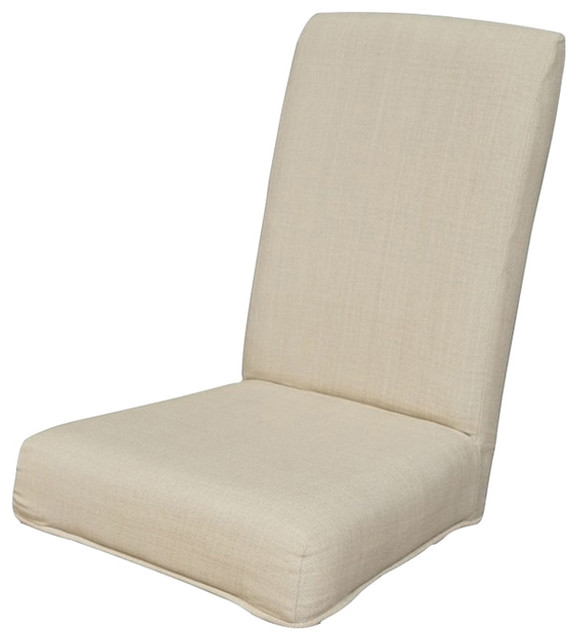 Admirable Couture Parson Chair Cover Light Cream Evergreenethics Interior Chair Design Evergreenethicsorg