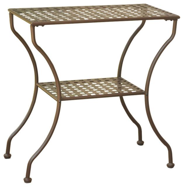 Mandalay Iron Rectangular 2 Tier Table Industrial