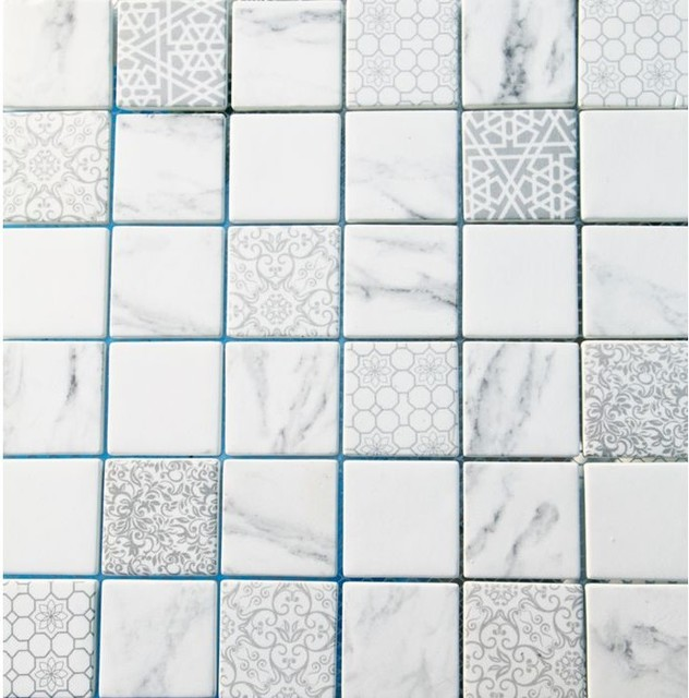 Recycled Gl Mosaic With Printed Patterns Contemporary Tile By Stone Ltd