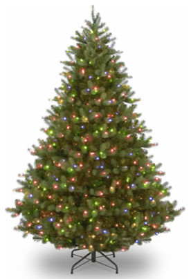 9 feel real douglas fir christmas tree with 700 multi led lights traditional - Christmas Tree With Lights