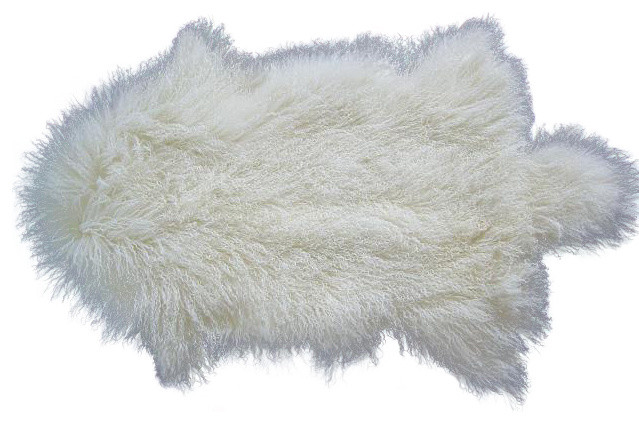 Tibetan Lamb Fur Rug Contemporary Area Rugs By Curly