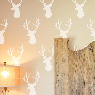 Deer Head Wall Stencil Contemporary Wall Stencils By