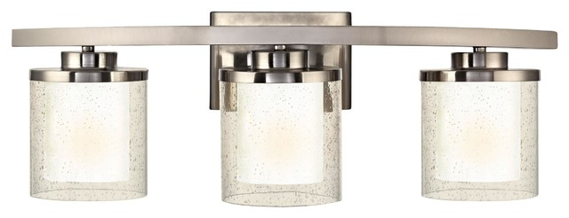 Horizon 3 Light Bathroom Fixture Transitional Bathroom Vanity Lighting