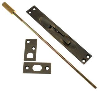"idh by St. Simons, Inc. Genuine Solid Brass Extension Flush Bolt 12"" Rod - Pocket Door Hardware ..."