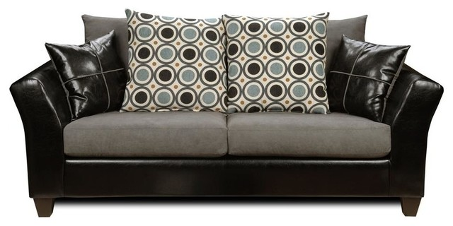 Holly Sofa, Denver Black Contemporary Sofas