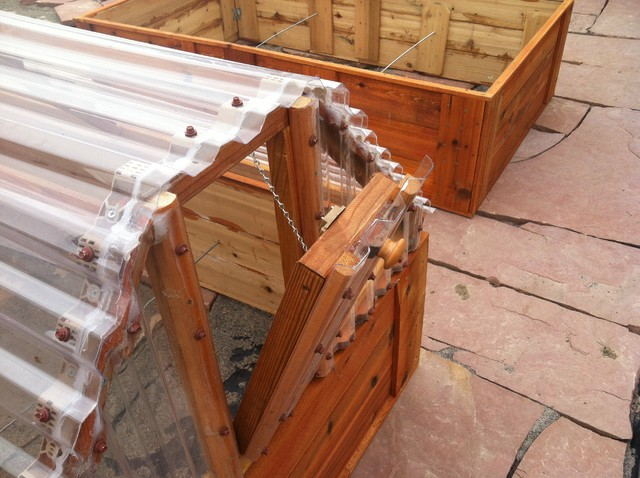 the cold frame detail of auto opening vent farmhouse