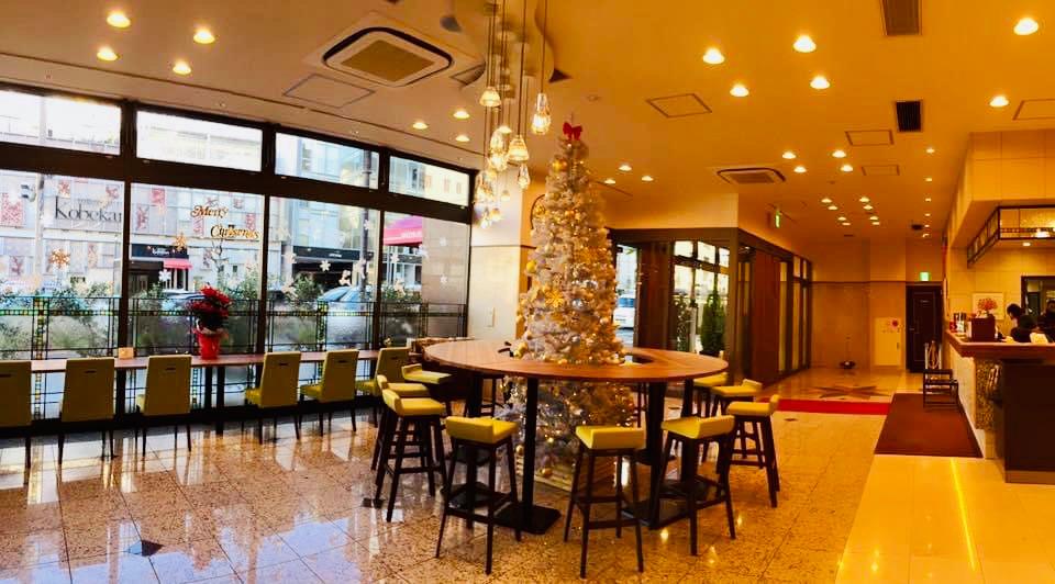 名古屋ビーズホテル 1階メインロビークリスマスバージョン
