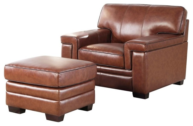 Awe Inspiring Abbyson Living Ronald Top 2 Piece Chair And Ottoman Set Brown Bralicious Painted Fabric Chair Ideas Braliciousco