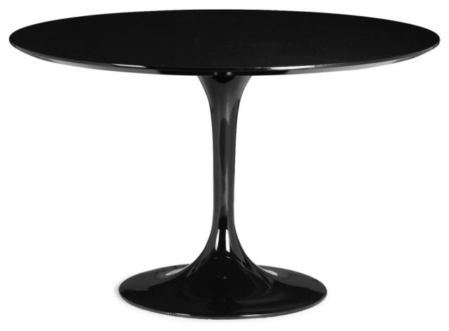 Modern Contemporary Dining Table Black Wood Fiberglass Contemporary Dini
