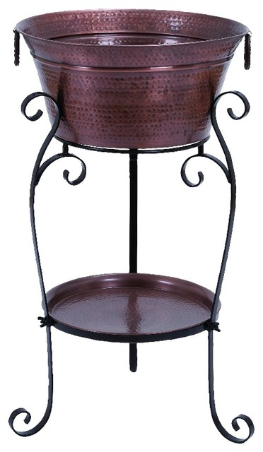 """Metal Wine Cooler 35""""H, 20""""W - Rustic - Ice Tools And ..."""