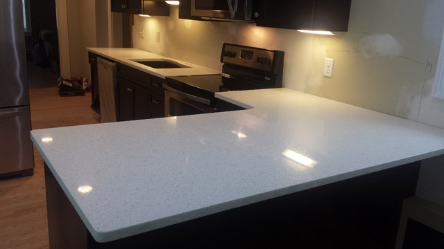 Sparkling White Quartz Countertop