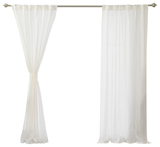 9a3deefe9706a Abelia Belgian Flax Linen Curtain - Contemporary - Curtains - by Best Home  Fashion