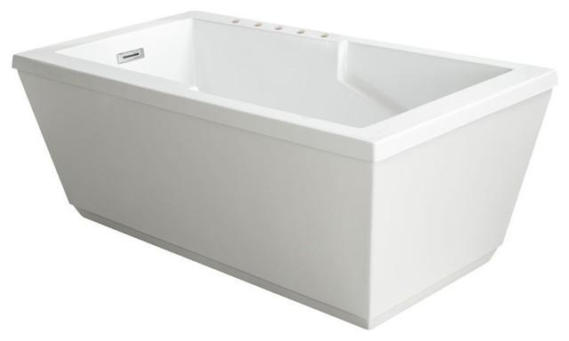 "Streamline 66"" Soaking Freestanding Tub With Internal Drain."