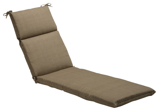 Monti Taupe Chaise Lounge Cushion - Scandinavian - Outdoor Cushions And Pillows - by Pillow ...