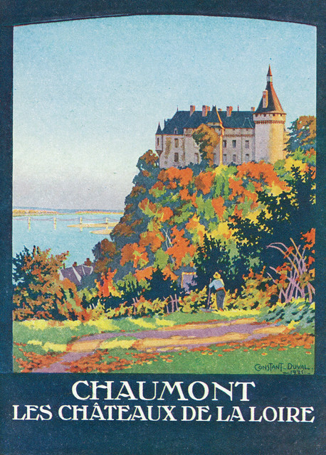 Paris Orleans Railway Loire Vintage Travel Train Poster Reproduction