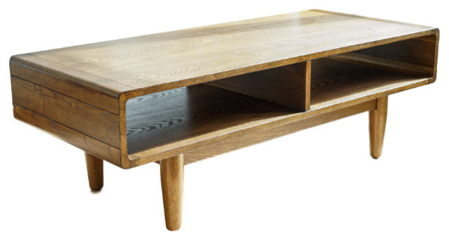 Haven Home Dexter Mid Century Coffee Table Deco Walnut