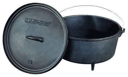 "Camp Chef Cast Iron Classic 12"" Deep Dutch Oven."
