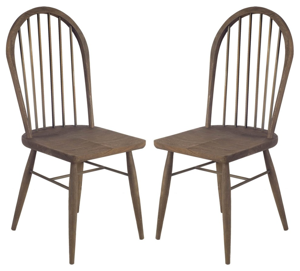 Ansel Dining Chairs Featuring An Arch Style Stick Back In A Brown Polish Midcentury Dining Chairs By Rustic Home Furnishings