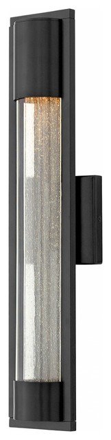 Outdoor Mist, Medium Wall Mount, Satin Black.