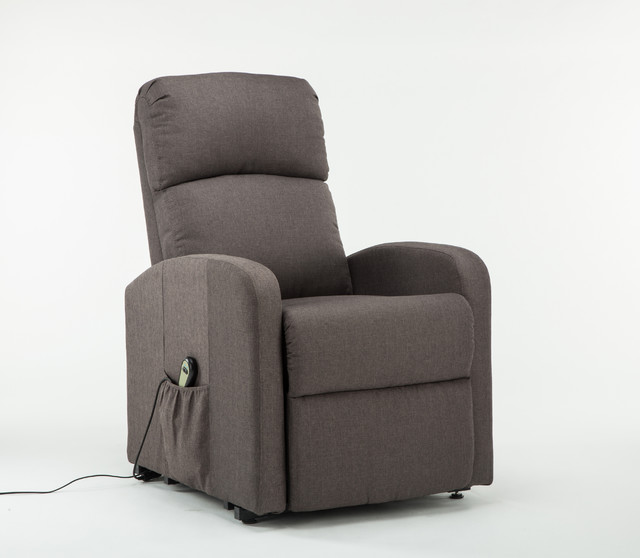 Shop Houzz Divano Roma Furniture Classic Plush Power Lift Recliner Living R