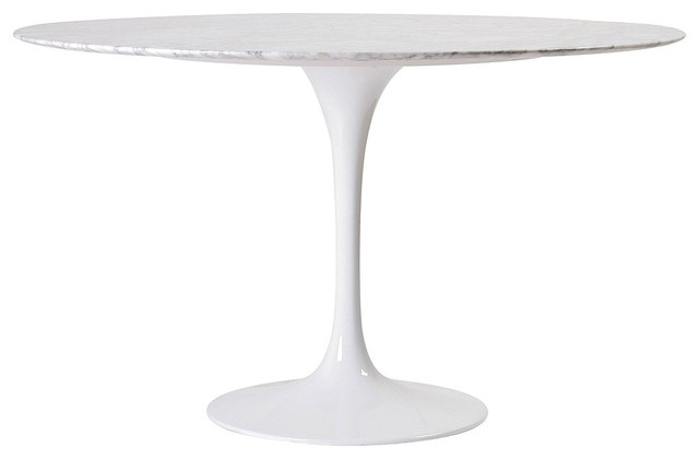 Round Carrara Marble Dining Tulip Table 36 Midcentury Dining Tables By Afb Decor