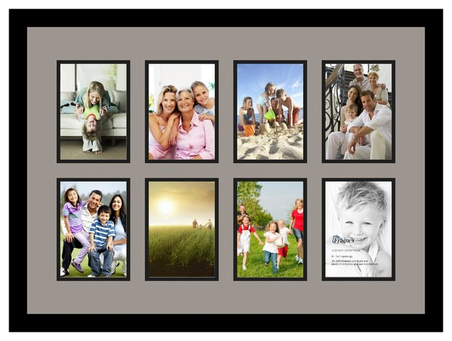 Arttoframes collage photo frame with 8 openings for Modern collage frame