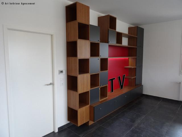 meuble tv biblioth que contemporain salon autres. Black Bedroom Furniture Sets. Home Design Ideas