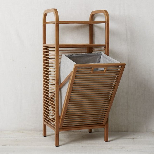 Bamboo Laundry Hamper Ritz By West Elm