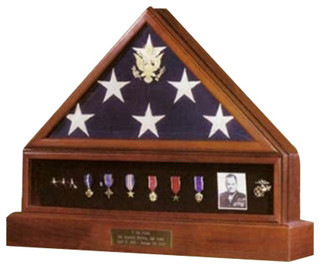 Presidential Pedestal Flag Medal Display Hand Made By Veterans - Contemporary - Decorative ...