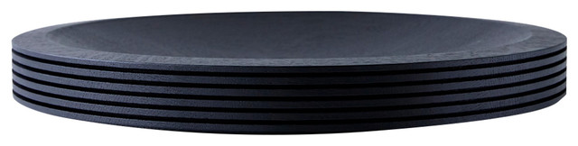 Divide Handmade Oak Dish, Black Stained, 36 Cm