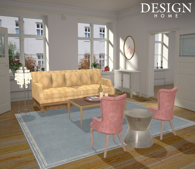 Example of a living room design in Boston