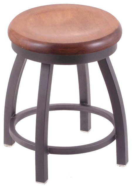 Outstanding 802 Misha 18 Vanity Stool With Pewter Finish Medium Maple Seat And 360 Swivel Squirreltailoven Fun Painted Chair Ideas Images Squirreltailovenorg