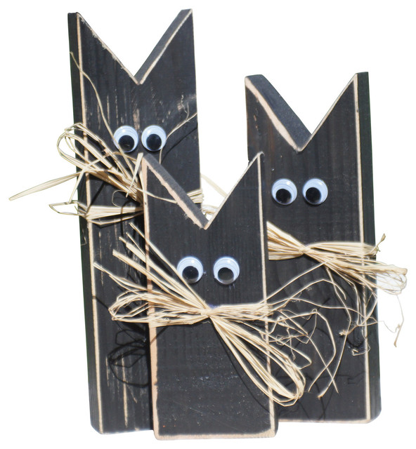 primitive black cat halloween decor halloween decorations contemporary holiday accents and