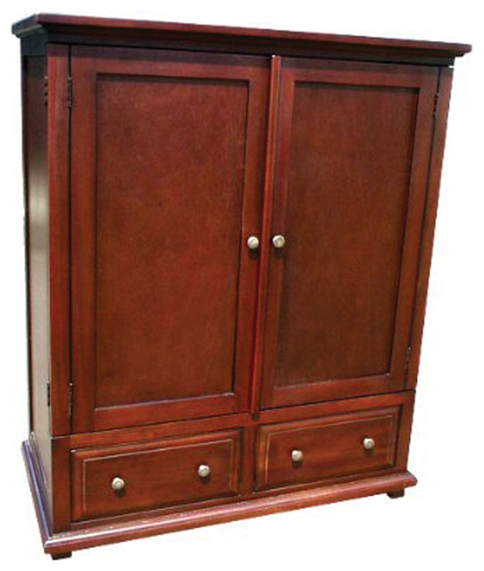 D Art Collection Home Decorative Mahogany Wooden Java Tv Armoire Storage  Cabinet Traditional Armoires