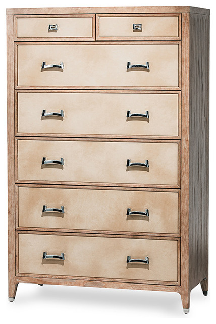 Chic Weathered 7-Drawer Chest.