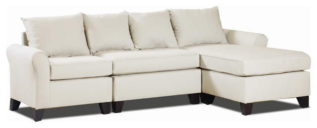 Belle Meade Three Piece Sectional Khaki Contemporary Sectional Sofas By Carolina Accents