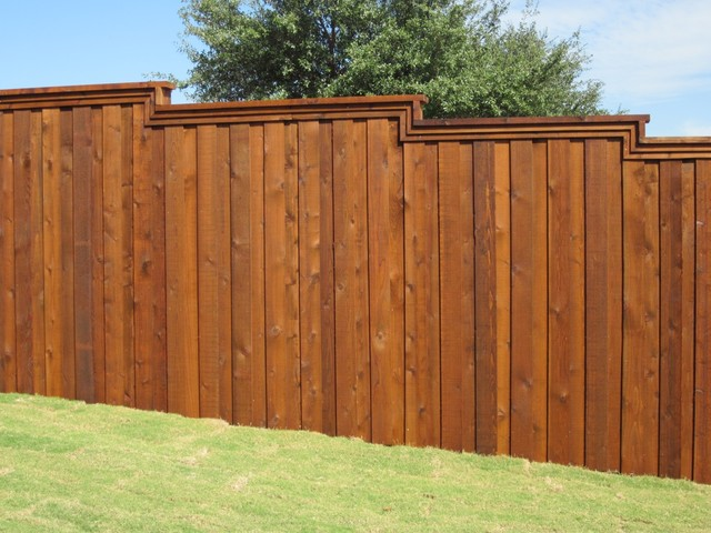 Board On Board Cedar Fence Metal Posts Dallas By Texas