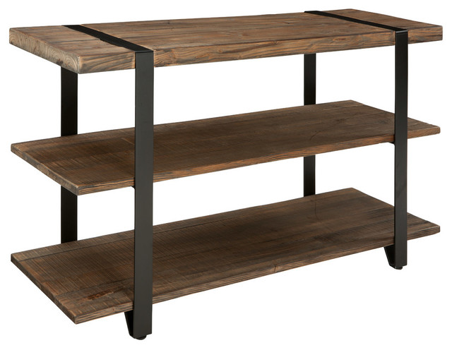 Modesto Reclaimed Wood Media/Console Table, Rustic Natural