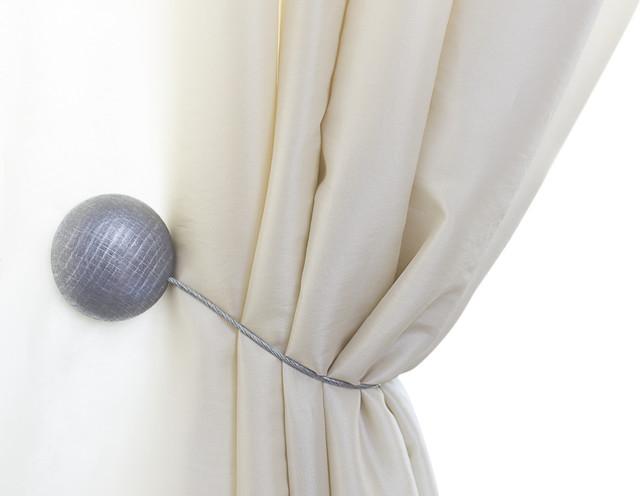 Curtain Clips, Tiebacks, Or Holdbacks | Set Of 2, Silver.
